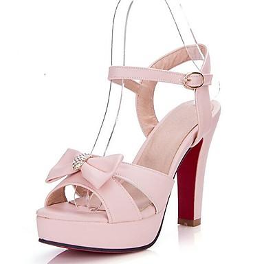 Hebilla Rosa 06771029 Zapatos Tacón Verde Confort Cuadrado PU Sandalias Puntera Mujer Azul abierta Verano pZnwUp4