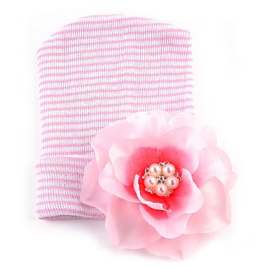 56eebfbedc5 Infant Unisex Sweet Daily Heart Floral Style Cotton Hats   Caps Pink    Beige   Rainbow One-Size   Bandanas