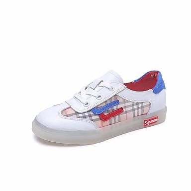Femme Beige ouvert 06750415 Rayé Bout Nappa Talon Confort Basket Printemps Chaussures Cuir Plat Blanc été 7qSrg7w