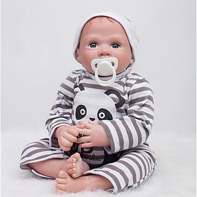 OtardDolls Păpuși Renăscute Bebe Băiețel 20 inch Silicon - natural Mâini aplicate manual Lui Kid Băieți / Fete Jucarii Cadou