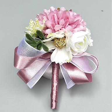 fleurs de mariage boutonni res petit bouquet de fleurs au poignet mariage soir e polyester 3. Black Bedroom Furniture Sets. Home Design Ideas