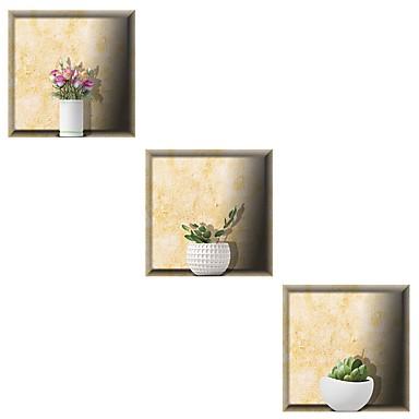 Autocolante de Perete Decorative - 3D Acțibilduri de Perete Floral / Botanic / #D Sufragerie / Cameră de studiu / Birou