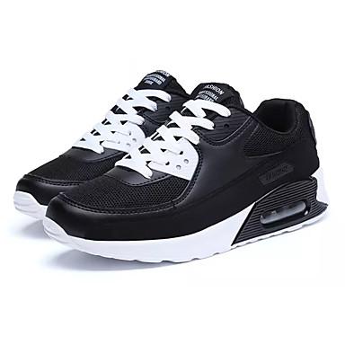 Bărbați Tul / PU Toamnă Confortabili Adidași de Atletism Alergare / Plimbare Negru / Alb / Alb / Albastru