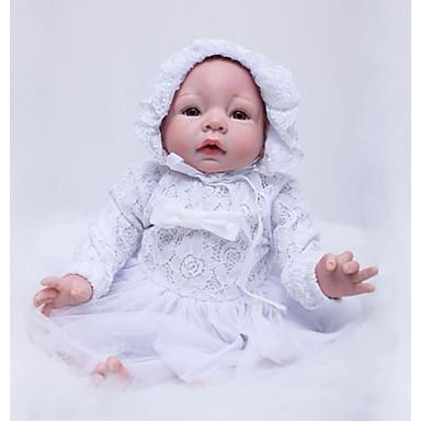 OtardDolls Păpuși Renăscute Bebe Fetiță 22 inch Silicon - natural, Mâini aplicate manual Lui Kid Fete Cadou