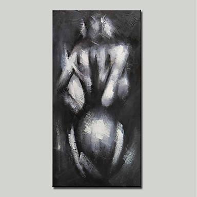 Hang-pictate pictură în ulei Pictat manual - Abstract / Culoarea pielii Modern pânză
