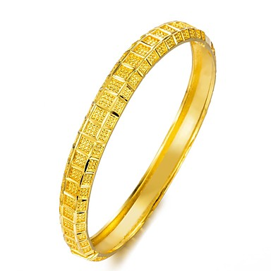 baratos Pulseira de Corrente-Mulheres Bracelete Link / Corrente senhoras Étnico Chapeado Dourado Pulseira de jóias Dourado Para Festa Presente
