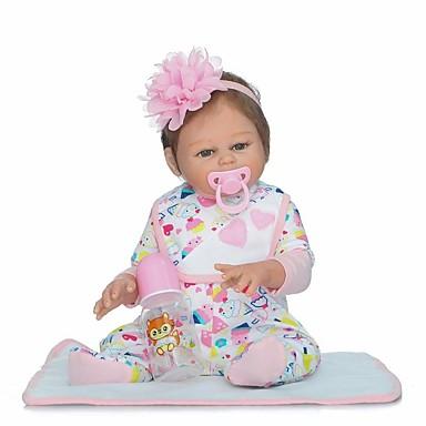 afc5deda729 NPKCOLLECTION NPK DOLL Reborn Doll Girl Doll Baby Girl 22 inch Full Body  Silicone Vinyl - Gift Hand Made Artificial Implantation Brown Eyes Kid s  Girls  Toy ...