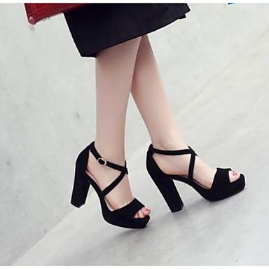 Daim Femme Talon Chaussures Confort Eté Bottier Sandales 06770506 Noir 5rd5Xwq