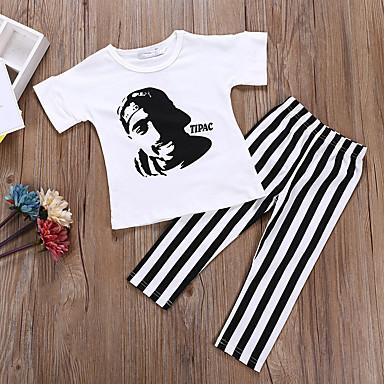 Bebelus Fete Dungi Manșon scurt Set Îmbrăcăminte