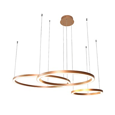 UMEI™ Circular Chandelier Ambient Light Anodized Aluminum Acrylic Creative, Adjustable, New Design 110-120V / 220-240V Warm White / White LED Light Source Included / LED Integrated / FCC