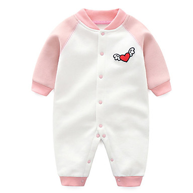 Bebelus Unisex De Bază Mată Manșon Lung O - piesă / Copil
