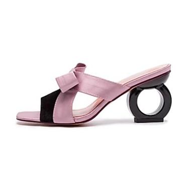 Talon Chaussures Amande Confort Eté 06770277 hétérotypique Rose ouvert Femme Satin Bout Sandales qXwOKKS6