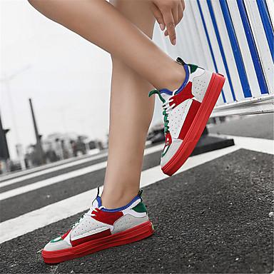 été Daim royal Plat Blanc Chaussures Automne Talon Bleu Printemps Rouge Confort Femme 06749854 Basket wIaqA55