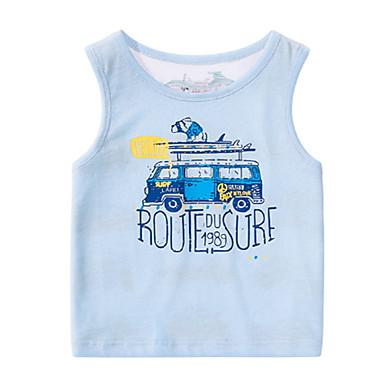 Bambino (1-4 Anni) Da Ragazzo Essenziale Tinta Unita Senza Maniche Poliestere T-shirt Blu #06769402 Rendere Le Cose Convenienti Per I Clienti