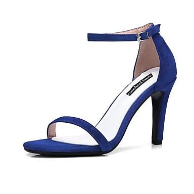 Sandales Confort Bleu Talon Boucle Bout Rose Aiguille ouvert Femme 06770173 Chaussures Daim Rouge Eté IqFx1atw