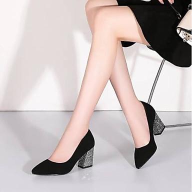 Femme Talon pointu Eté Rouge à Talons Chaussures 06771123 Bottier Chaussures Daim Confort Bout Noir rwqrR0