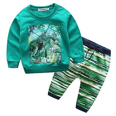 Bebelus Băieți De Bază Imprimeu Manșon Lung Set Îmbrăcăminte / Copil