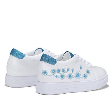 Eté Femme Plat Confort Nappa Talon 06769828 Bleu Basket Chaussures Printemps Cuir rond Bout Rose xRqgfIR
