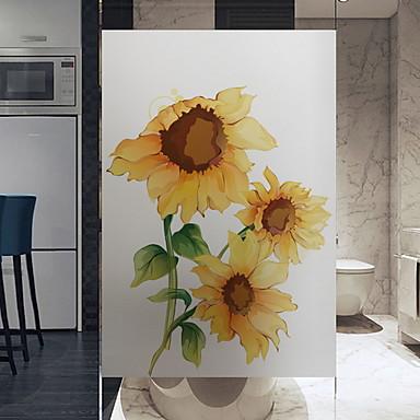 Window Film & Stickers Decoration Floral Floral PVC(PolyVinyl Chloride) Window Sticker