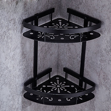 Prosop Baie / Raft Baie / Suport Perie Dinți Model nou / Multistrat / Creative Modern Aluminiu 1 buc Dublu Montaj Perete