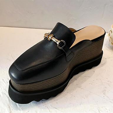 été de Polyuréthane Bride Femme semelle Sabot carré Bout Arrière Chaussures Printemps Marron A Mules compensée 06770835 amp; Noir Hauteur tg5gBwPq