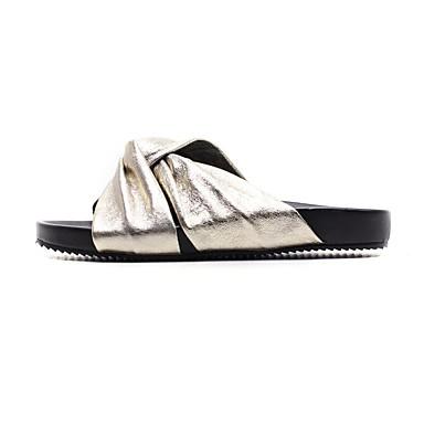 Or Eté amp; Cuir Femme Chaussures Argent 06740360 Confort Chaussons Talon Tongs Plat SfAaFRqwac
