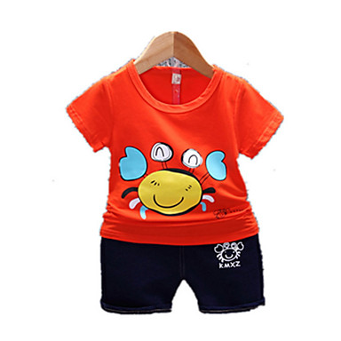 Bebelus Băieți Geometric Manșon scurt Set Îmbrăcăminte