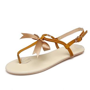 les les les chaussures de femme kaka (polyuréthane) le confort d'été des sandales croûton bout ouvert or / beige et marron 0d1397