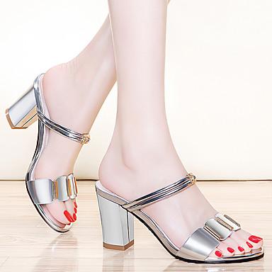 Soirée Cuir Chaussures Verni A Bride Printemps Talon Argent Sandales Arrière Or Evénement Femme Bout Bottier 06754702 pointu amp; été wZgfdqg5
