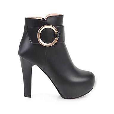 Talon Blanc la Demi à 06765348 Femme Bout Chaussures Mode Bottes rond Automne Bottier hiver Beige Botte Polyuréthane Noir Bottine Bottes X6gzYqga