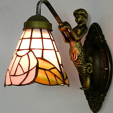 Creative Retro Becuri de perete Dormitor Sticlă Lumina de perete 220-240V 40 W / E27