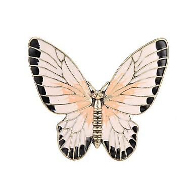 Pentru femei Sculptură Broșe - Fluture Stilat, Clasic Broșă Auriu Pentru Zilnic