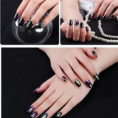 2pcs Glitter Powder Sequins 6 colors nail art Manicure Pedicure Elegant & Luxurious / Mirror Effect / Sparkle & Shine