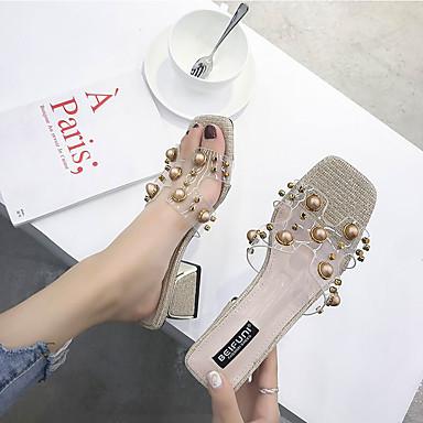 Verano Cuadrado Talón Dorado 06751795 PU Gris Sandalias Descubierto Tacón Zapatos Mujer 04C1EE