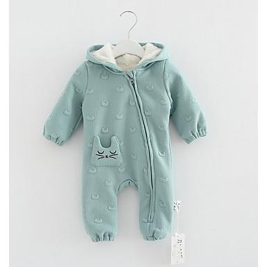 Bebelus Băieți Imprimeu Manșon Lung Salopetă