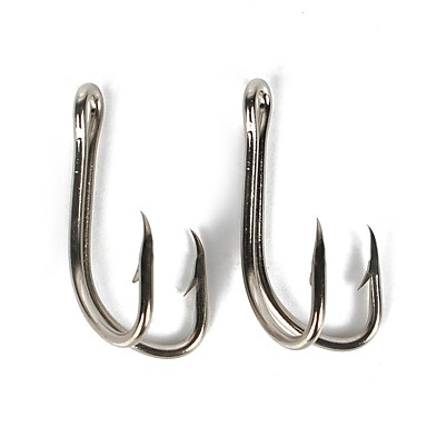 cheap Fishing Hooks-50 pcs Worm Hooks Fishing Hooks Thin Hang-Nail / Curved Point Sea Fishing / Bait Casting / Ice Fishing Carbon Steel Hot Sale / Jigging Fishing / Freshwater Fishing / Carp Fishing / Bass Fishing
