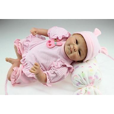 halpa Reborn Dolls-NPKCOLLECTION NPK DOLL Reborn Dolls Tyttö Nukke Tyttövauvat 18 inch Silikoni - Vastasyntynyt Gift Käsintehty Lapsiturvallinen Non Toxic Syntymäpäivä Lasten Tyttöjen Lelut Lahja