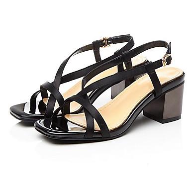 ouvert Bout Satin Sandales Boucle Printemps Talon Confort Bottier Femme 06766576 Chaussures Noir CFnqfZwxF4