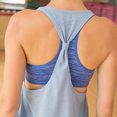 Pentru femei Tricou Sutien de Yoga Sport Topuri Pentru Pilates, Fitness, Alergat Fără manșon Îmbrăcăminte de Sport Ușor, Respirabil, Uscare rapidă Strech Gri / Mov / Albastru