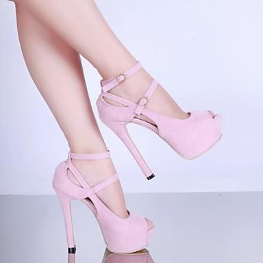 Rosa Zapatos Negro PU Verano Tacones Confort Tacón Mujer Stiletto 06751820 8aw7xdwq