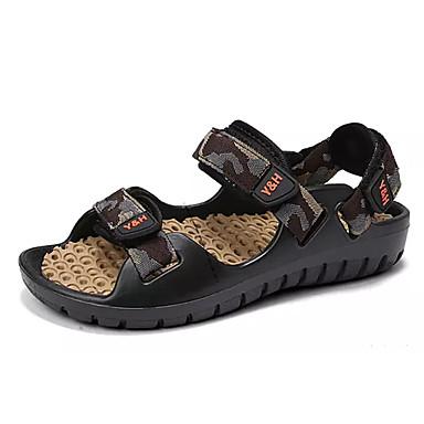 Bărbați Croșet / PU Vară Confortabili Sandale Culoare Camuflaj Rosu / Verde / Albastru