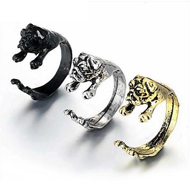 voordelige Herensieraden-Heren Open Ring обернуть кольцо 1pc Goud Zwart Zilver Legering Statement Europees Modieus Dagelijks Maskerade Sieraden Honden