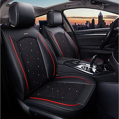 cheap Car Seat Covers-ODEER Car Seat Cushions Seat Covers Black Textile Common for universal All years All Models