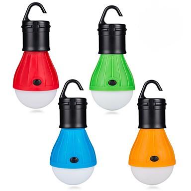 abordables Éclairage Extérieur-4pcs Lumière de secours extérieure de camping Blanc Batteries AAA alimentées 3 modes / Intensité Réglable / Imperméable Pile