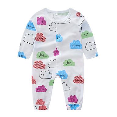 Bebelus Fete De Bază Imprimeu Manșon Lung Bumbac O - piesă