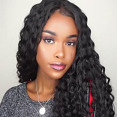 שיער ראמי חלק קדמי תחרה ללא דבק / חזית תחרה פאה שיער ברזיאלי מתולתל / גלי משוחרר פאה עם שיער תינוקות 130% / 150% / 180% פאה אפרו-אמריקאית / לא מעובד בגדי ריקוד נשים קצר / בינוני / ארוך / מסולסל