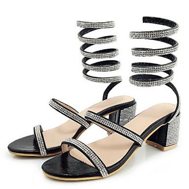 06733306 Polyuréthane Bottier Argent Sandales Talon Strass Chaussures A ouvert Arrière Bride amp; Eté Evénement Bout Soirée Noir Femme 8TqW5q