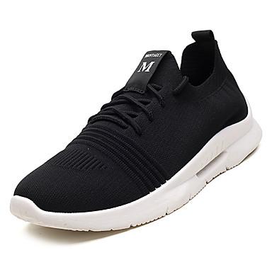 Bărbați Tul Vară Confortabili Adidași de Atletism Alergare / Plimbare Negru / Rosu