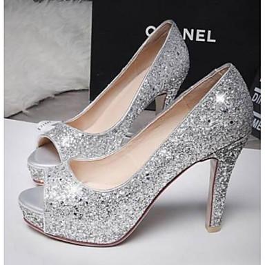 Soirée Talon Noir Chaussures 06770154 Talons Confort Femme Argent Blanc Evénement Aiguille Chaussures amp; Toile à Eté FHxCxSqwa