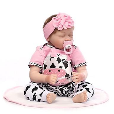 billige Reborn-dukker-NPKCOLLECTION NPK DOLL Reborn-dukker Baby Reborn Toddler Doll Reborn Baby Doll 24 inch Silikone - livagtige Gave Håndlavet Børnesikker Nyt Design Ikke Giftig Børne Pige Legetøj Gave